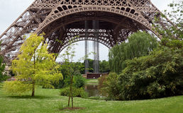 Paris - Garden near the Eiffel Tower Stock Images