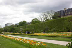Paris gardens in May stock photography