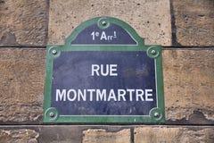 Paris gata Royaltyfria Foton