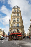 Paris gatakafé Royaltyfri Bild