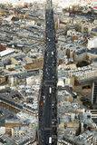 Paris gatasikt Fotografering för Bildbyråer
