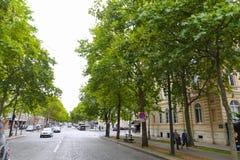 Paris gator Arkivbilder