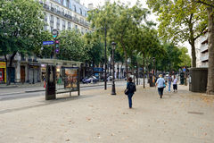 Paris gator Royaltyfri Bild