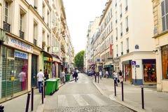 Paris gator Fotografering för Bildbyråer