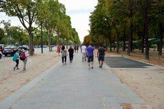 Paris gator Arkivfoto
