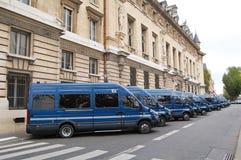 Paris Gendarmerie Vehicles stock photos