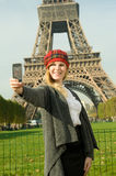 Paris Girl Stock Photography