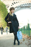 Paris Girl Stock Photo
