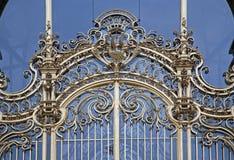 Paris - gold gate of Petit palace Stock Photo