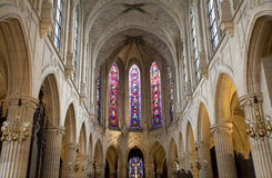 Paris gothic church -Saint-Germain-l'Auxerrois Stock Images