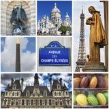 Paris gränsmärkecollage Royaltyfri Bild