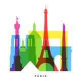 Paris gränsmärken royaltyfri illustrationer