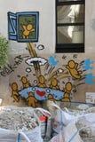 Paris Graffiti. Street Art in Paris, France Stock Images