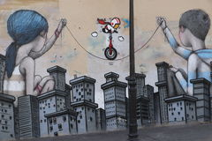 Paris Graffiti Royalty Free Stock Images
