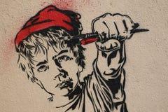 Paris Graffiti Royalty Free Stock Photo