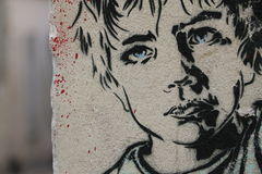 Paris Graffiti Stock Photography