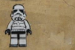 Paris grafitti arkivbilder