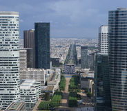 Paris from Grand Arche Stock Photography