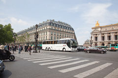 Paris. Grand Opera in the Plaza Opera Stock Image