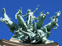 Paris Grand Palais - Quadriga Royalty Free Stock Image
