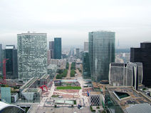 Paris from Grande Arche Stock Photo