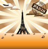Paris greeting Royalty Free Stock Photography