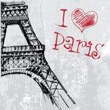 Paris grunge background with Eiffel tower Stock Photo