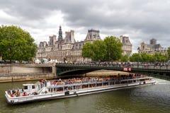 paris Hôtel-De-Ville (ville hôtel) Images libres de droits