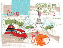 Paris. Hand drawn illustration from Paris Stock Images