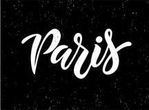 Paris hand drawn vector lettering vector illustration
