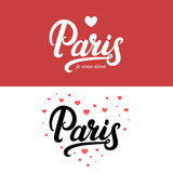 Paris hand written calligraphy lettering. Royalty Free Stock Images