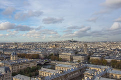 Paris from height of bird's flight Royalty Free Stock Images