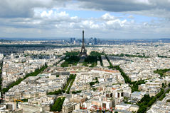 Paris from a height. Panoramic view of the city Royalty Free Stock Photo