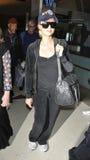 Paris Hilton à l'aéroport de LAX, la Californie photo libre de droits
