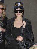 Paris Hilton à l'aéroport de LAX, la Californie photo stock