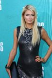 Paris Hilton at the 2012 MTV Movie Awards Arrivals, Gibson Amphitheater, Universal City, CA 06-03-12 Royalty Free Stock Photography