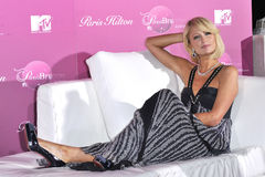 Paris Hilton. At press conference and party in the Hollywood Hills to announce her new MTV reality series 's My New BFF which wil try to find her a new best Stock Image