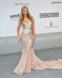 Paris Hilton. ANTIBES, FRANCE - MAY 22, 2014: Paris Hilton  at the 21st annual amfAR Cinema Against AIDS Gala at the Hotel du Cap d'Antibes Royalty Free Stock Images