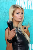 Paris Hilton arriving at the 2012 MTV Movie Awards Stock Images