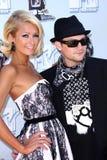 Paris Hilton, Benji Madden stockbilder