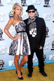 Paris Hilton,Benji Madden. Paris Hilton and Benji Madden at the 2008 MTV Movie Awards. Gibson Amphitheatre, Universal City, CA. 06-01-08 royalty free stock photography