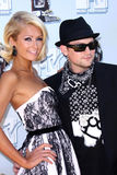 Paris Hilton,Benji Madden stock images
