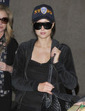 Paris Hilton at LAX airport, california Stock Photo