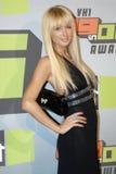 Paris Hilton no tapete vermelho Foto de Stock Royalty Free