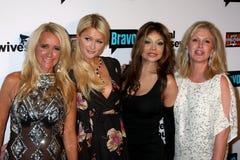 Paris Hilton, Toya, Kathy Hilton, Kim Richards, Λα Toya Τζάκσον, LaToya Τζάκσον, Jacksons στοκ εικόνες