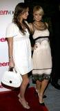 Paris Hilton und Nicky Hilton Stockfotografie