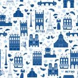 Paris-Hintergrund. Muster Stockfotografie
