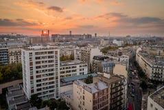 Paris HLM bei Sonnenuntergang Lizenzfreie Stockfotografie