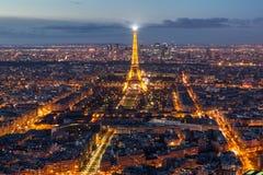 Paris horisont från Notre Dame de Paris Arkivbild