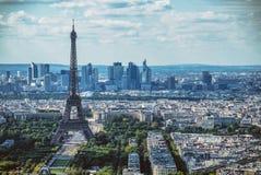 Paris horisont från Notre Dame de Paris Fotografering för Bildbyråer